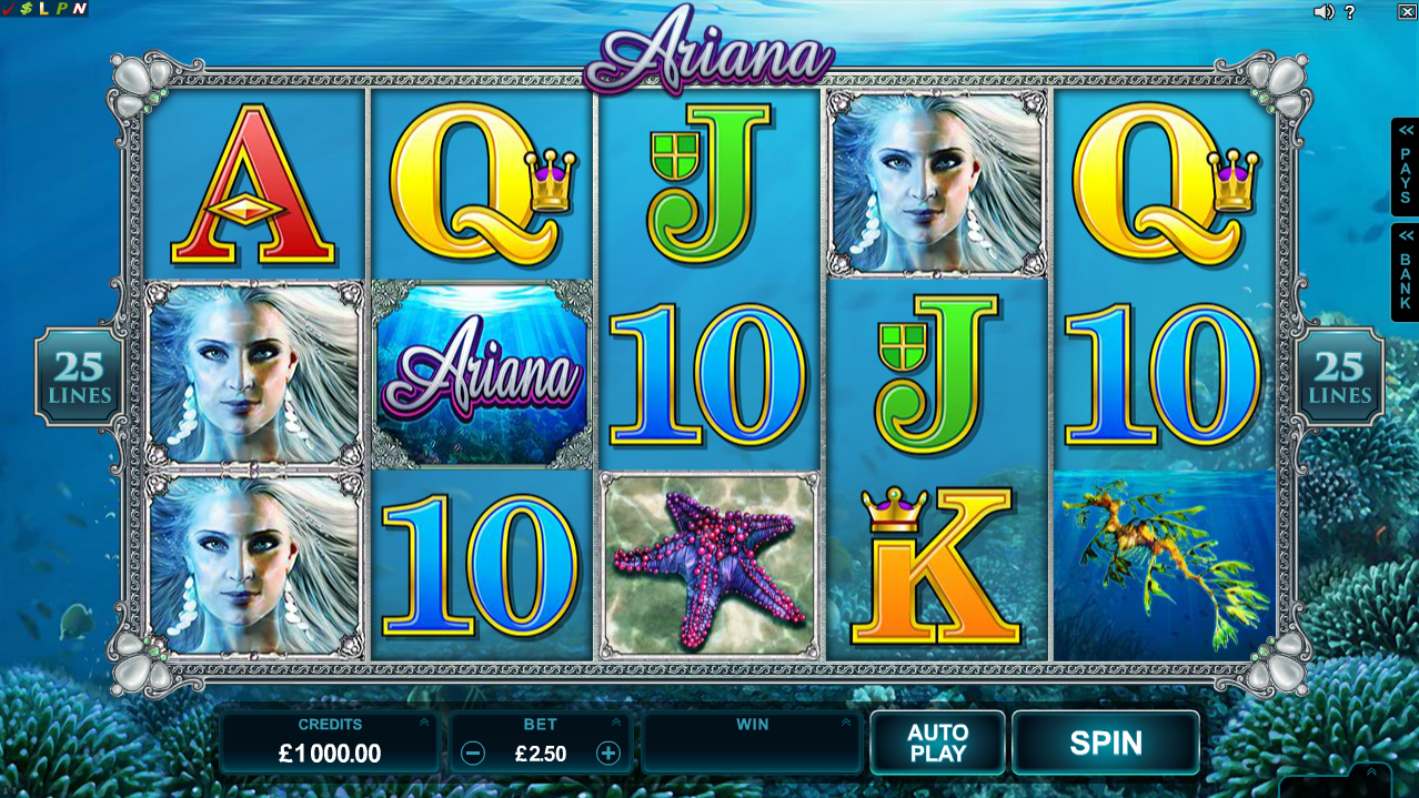 Ariana™ Slot Machine Game to Play Free in Microgamings Online Casinos
